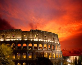 Coliseo-romano-en-Roma-Italia